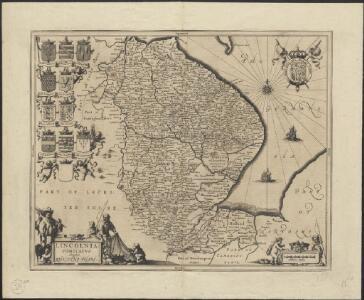 Lincolnia Comitatus anglis Lyncolne Shire