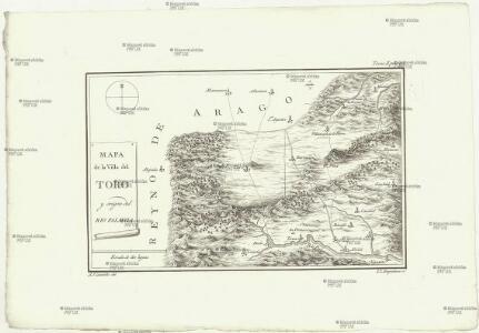 Mapa de la ville del Toro y origen del rio Palancia