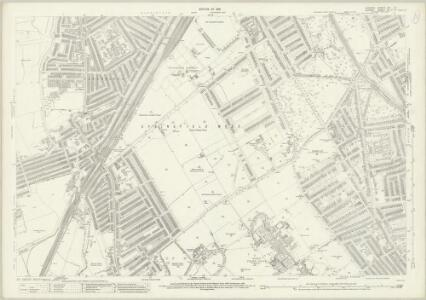 London (1915- Numbered sheets) VIII.16 (includes: Battersea; Wandsworth Borough; Wimbledon St Mary) - 25 Inch Map
