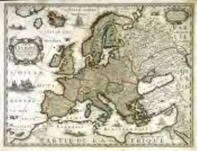 Carte de l'Evrope
