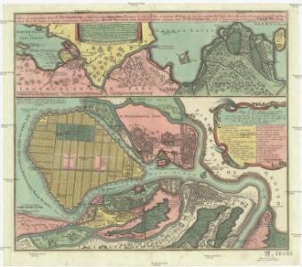 Nova et accuratißima urbis St. Petersburg a rußorum imperatore Petro Alexiewiz Ao. 1703 ad ostium Nevae fl. conditae et regionis circumjacentis delineatio