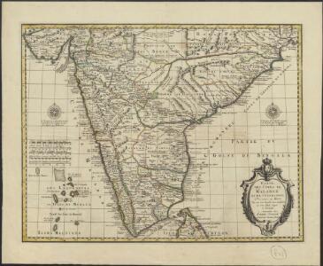 Carte des Côtes de Malabar et de Coromandel