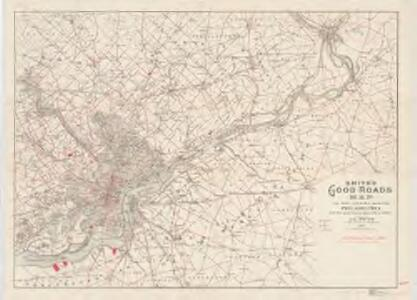 Map of the country around Philadelphia : with the good roads specially marked