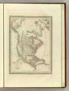 Carte de l'Amerique Septentrionale avec les Regions Polaires.