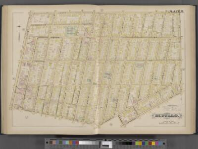 Buffalo, Double Page Plate No. 11 [Map bounded by North St., Jefferson St., Genesee St., Goodell St., Main St.]