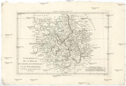 Gouvernements de la Marche, du Limosin, de l'Auvergne, et du Bourbonnois