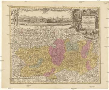Carinthia ducatus distincta in superiorem et inferior