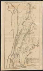 A plan of the country from Frogspoint to Croton River shewing the positions of the American and British armies from the 12th of October 1776 until the engagement on the White Plains on the 28th