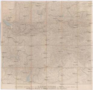 Specielle Reise- und Gebirgs-Karte vom Lande Tyrol mit den angrenzenden Theilen von Südbayern, Salzburg, der Schweiz und Ober-Italien