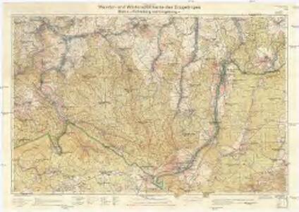 Wander- und Wintersportkarte des Erzgebirges