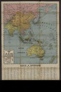 Carte à repérage Édé. n27, Asie - Océanie - Pacifique