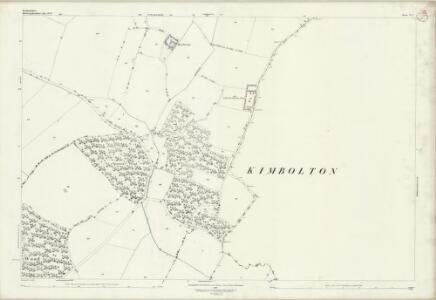 Bedfordshire V.1 (includes: Dean and Shelton; Kimbolton; Pertenhall; Swineshead; Tilbrook) - 25 Inch Map