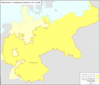 Eisenbahnen im Deutschen Zollverein 31.12.1835