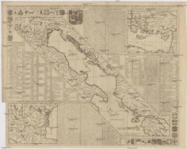 Carte de geographie des differents etats de la republique de Venise, l'abregé de son gouvernement politique et ecclesiastique, et les etats ou elle a porté la gloire de ses armes