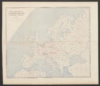 Carte demonstrative des déterminations télégraphiques de différences de longitudes
