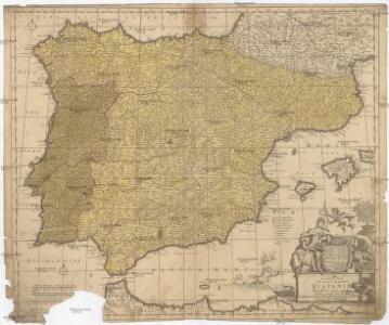 Accuratissima totius regni Hispaniae Portugalliaeq[ue] tabula et typus novissimus