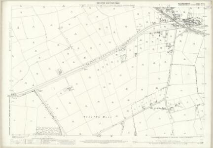Nottinghamshire XVI.15 (includes: Broadholme; Hardwick; Saxilby With Ingleby; Thorney) - 25 Inch Map