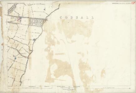 Shropshire XLV.13 (includes: Albrighton; Boningale; Codsall; Wrottesley) - 25 Inch Map