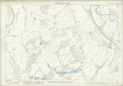 Surrey XXXIX.1 (includes: Bramley) - 25 Inch Map