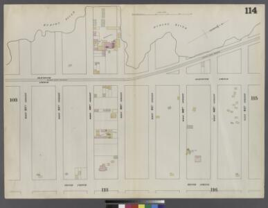 Plate 114: Map bounded by West 64th Street, Tenth Avenue, West 57th Street, Hudson River