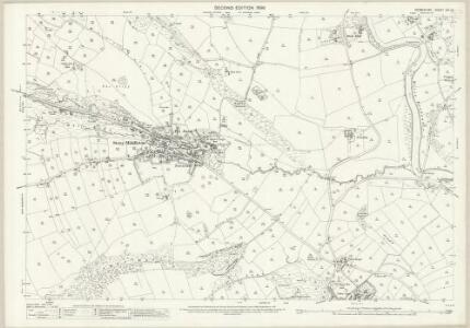 Derbyshire XVI.12 (includes: Calver; Curbar; Eyam; Froggatt; Stoke; Stony Middleton) - 25 Inch Map
