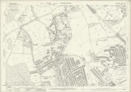 Middlesex XII.1 (includes: Finchley; Friern Barnet; Hornsey St Mary; Wood Green) - 25 Inch Map