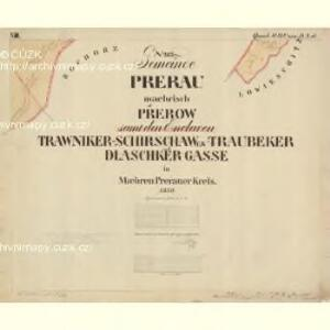 Prerau (Přerow) - m2453-1-022 - Kaiserpflichtexemplar der Landkarten des stabilen Katasters