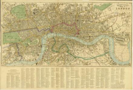 Reynolds's Map of London with the latest improvements