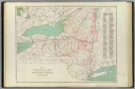 N.Y. land grants, patents, purchases.