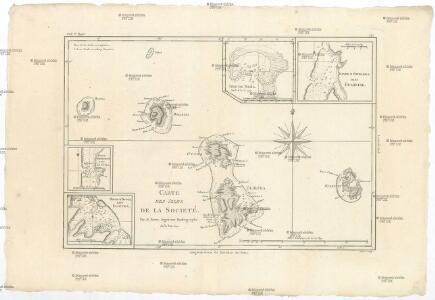 Carte des Isles de la Sociéte
