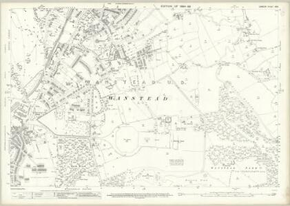London (Edition of 1894-96) XXIV (includes: Ilford; Leyton; Wanstead) - 25 Inch Map